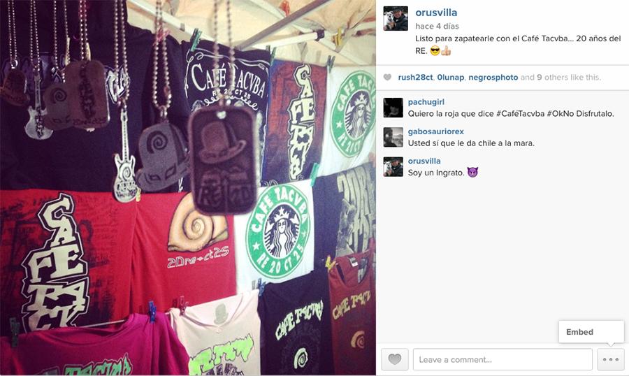 Instagram, Cafeta