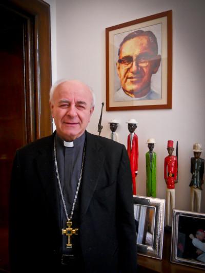 Vincenzo Paglia, presidente del Pontificio Consejo para la Familia y postulador de la causa de beatificación de Monseñor Óscar Arnulfo Romero.