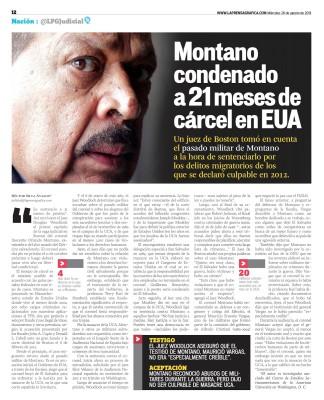 La condena al coronel Montano por fraude migratorio en Boston abrió la puerta a su posible extradición a España. Foto tomada de La Prensa Gráfica.