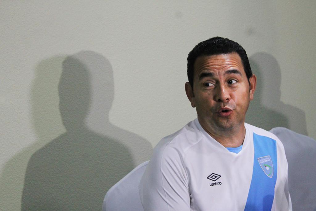 Jimmy Morales, el candidato chapín del Frente Convergencia Nacional (FCN). Foto de Frederick Meza.