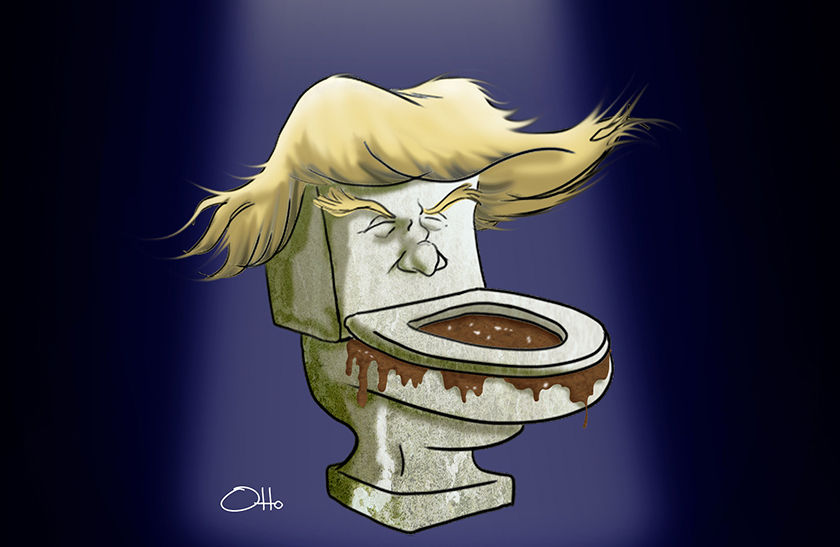 La mueca ¿pasajera? de Donald Trump