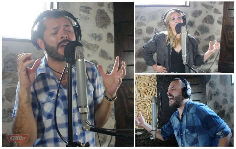 """Edgar Oceransky (México), Pamela Robin (El Salvador) y Bernardo Quesada (Costa Rica) aparecerán como músicos invitados en """"Sueños de Jade"""". Foto del Facebook de Alux Nahual."""