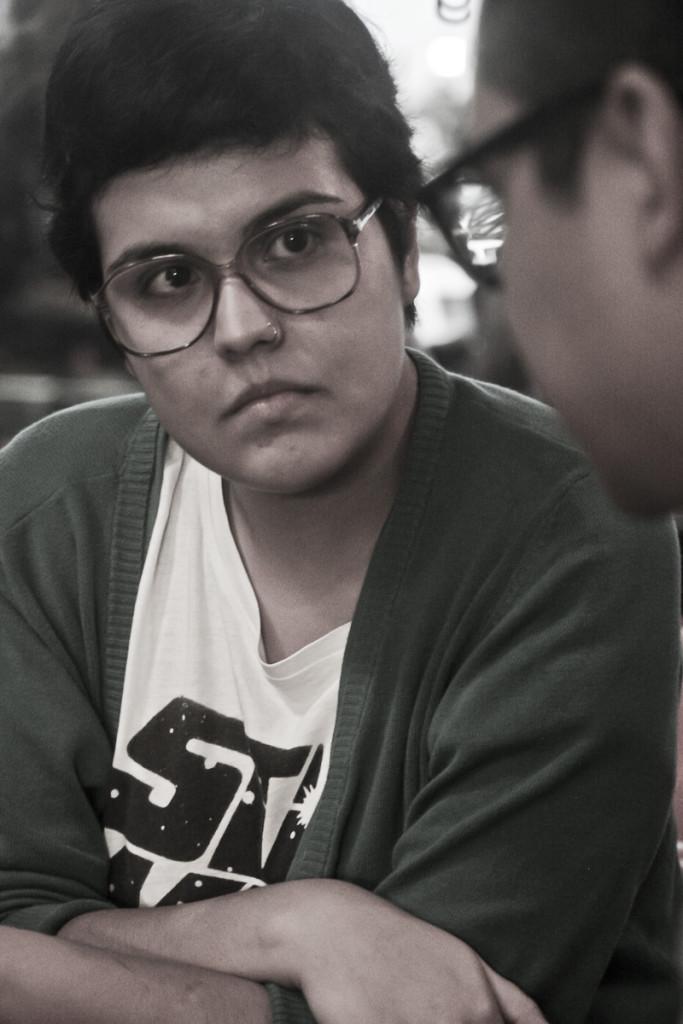 Gabriela Rivera, voz de Cartas a Felice. Foto de Orus Villacorta.