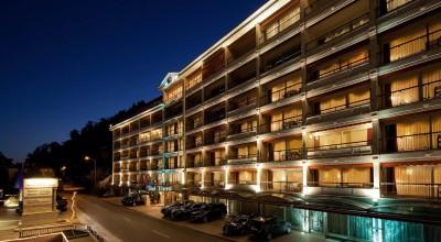 """Fachada del hotel """"Swiss Diamond Hotel"""" en Lugano, Suiza, propiedad del grupo kosovar Mabetex. Ahí Enrique Rais y su esposa compraron un apartamento en 2010, en parte con fondos provenientes de MIDES. Foto tomada del sitio web de Mabetex."""