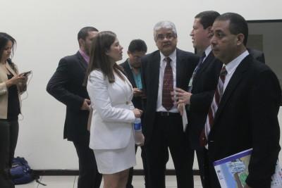 El equipo de abogados querellantes en una audiencia del proceso contra el expresidente Francisco Flores. Foto de Frederick Meza.