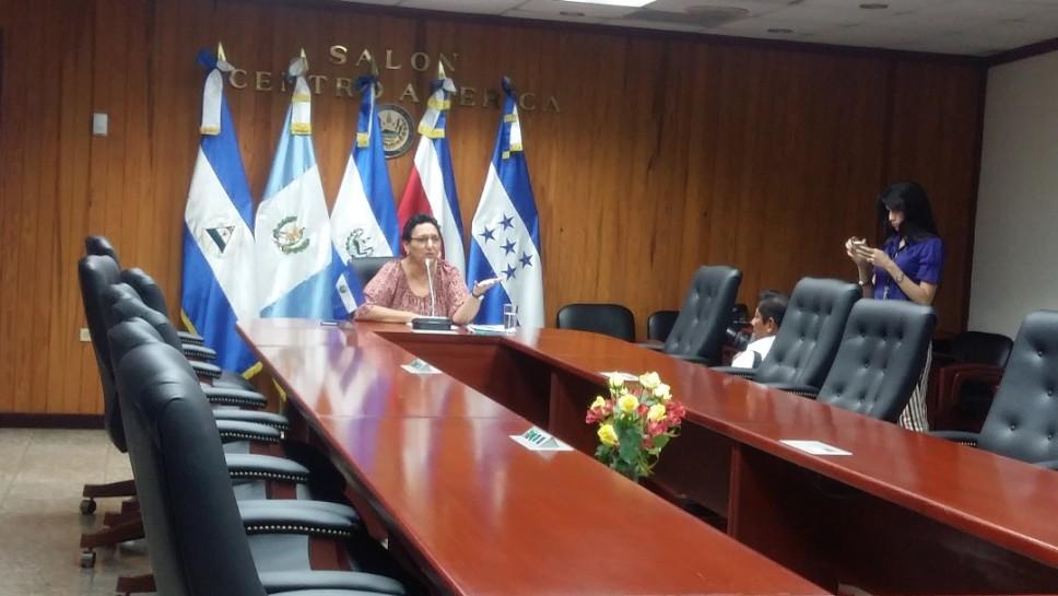 La presidenta de la Asamblea Legislativa, Lorena Peña (FMLN), al anunciar que no convocaría plenaria para el jueves 21 de julio.