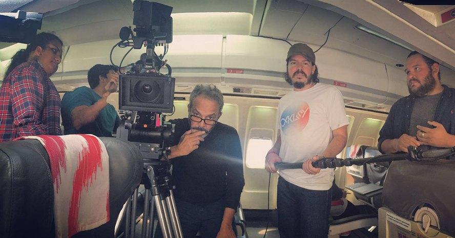 Fotos del rodaje, cortesía de Arturo Menéndez.