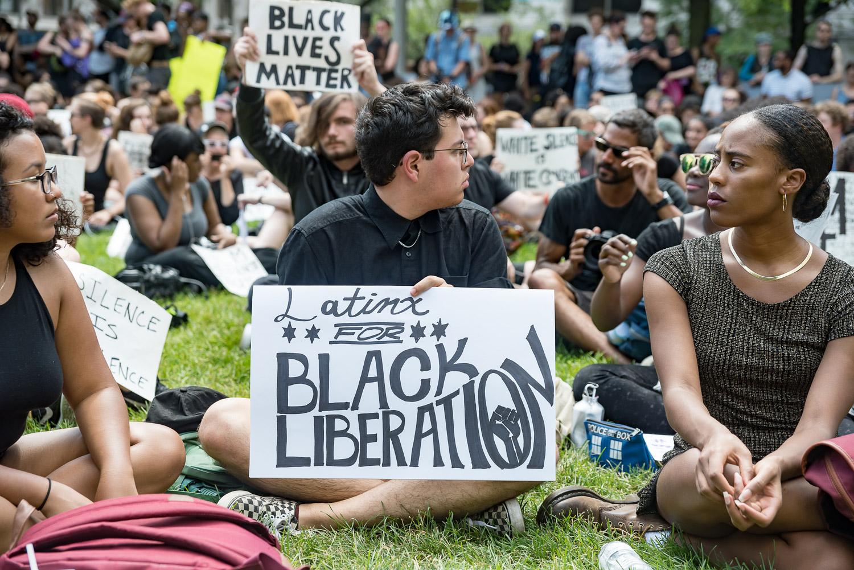 Imagen del campamento Freedom Square, un predio baldío ocupado por activistas vinculados a Black Lives Matter. Foto cortesía de Sarah-Ji.