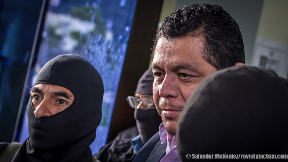 Julio Arriaza, jefe fiscal implicado en la supuesta red de corrupción liderada por el empresario Enrique Rais y el ex fiscal general Luis Martínez. Foto de Salvador Meléndez Girón.
