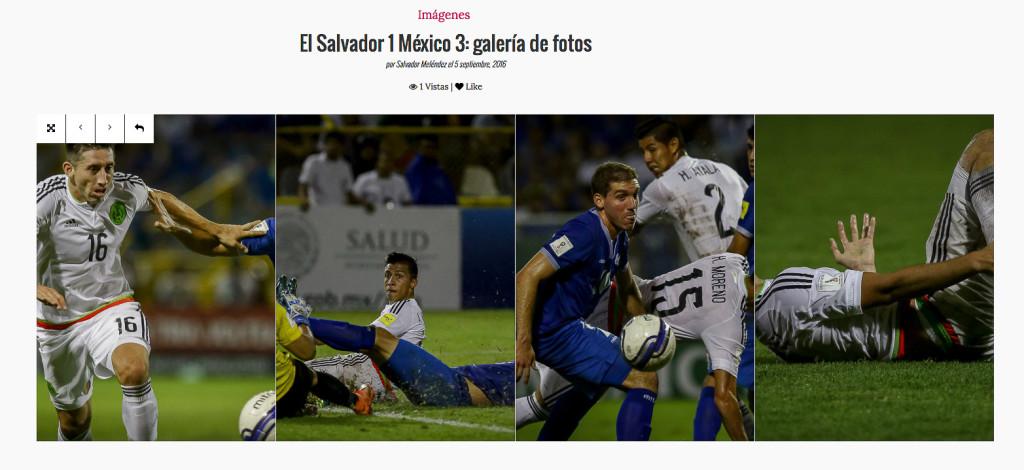 No te pierdas la galería fotográfica del partido entre El Salvador y México. Imágenes de Salvador Meléndez para REVISTA FACTUM.