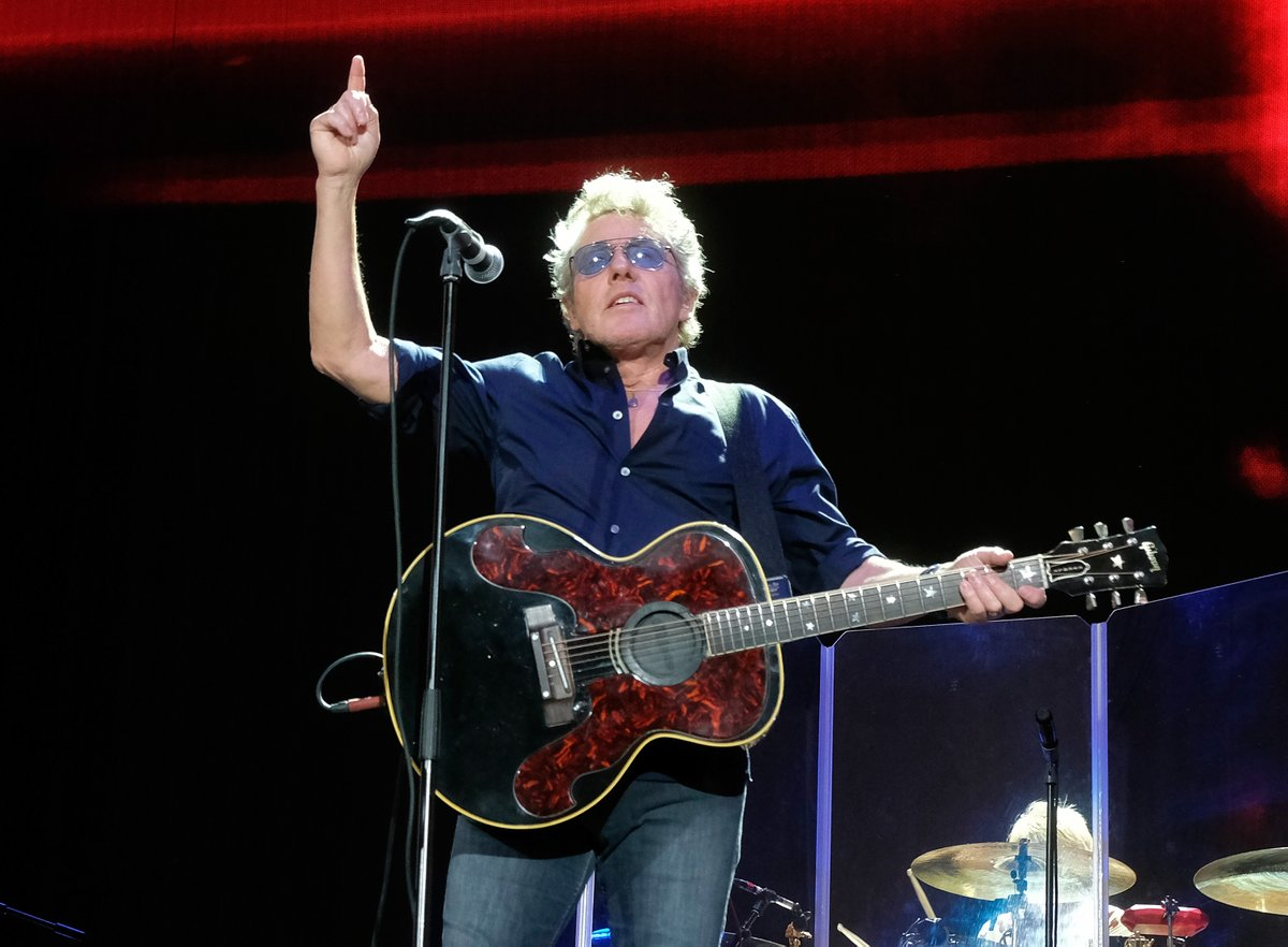 The Who en concierto. Foto del Twitter del Desert Trip.