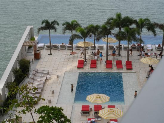 Vista de la piscina del Trump Ocean Panamá, uno de los que Martínez pagó con su tarjeta de crédito.