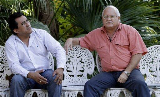 Raúl Cruz León y Otto Rodríguez Llerena, salvadoreños condenados en Cuba por atentados dinamiteros en La Habana en 1997. Foto tomada de Cubadebate.cu