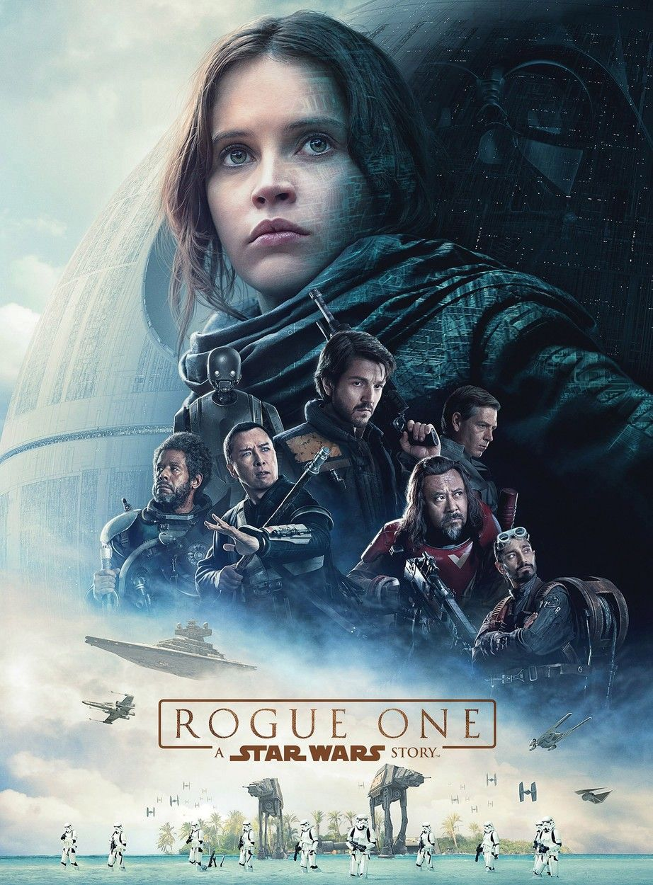 "Este es el afiche oficial de ""Rogue One: A Star Wars Story""."