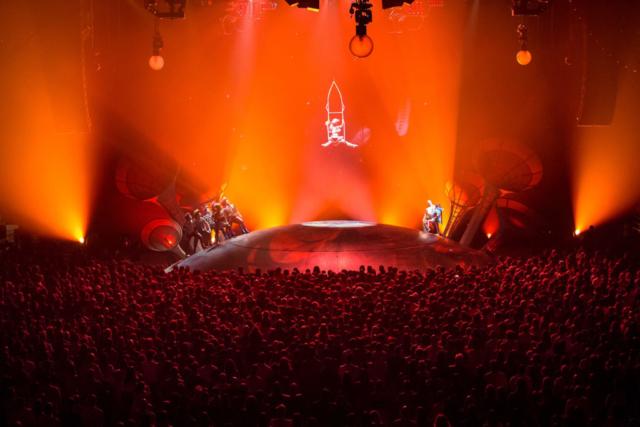 """""""Prófugos"""". Foto de Rodrigo Alonso. Prensa Soda Stereo SEP7IMO DIA by Cirque du Soleil."""