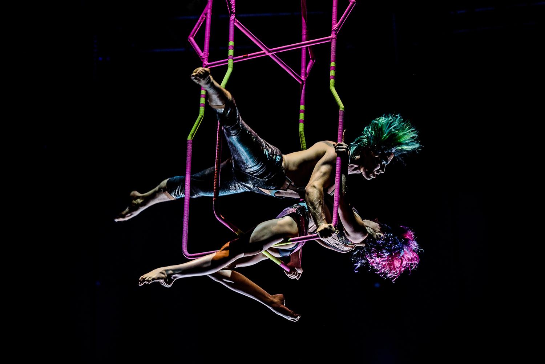 Foto de Nancy Martínez. Prensa Soda Stereo SEP7IMO DIA by Cirque du Soleil.