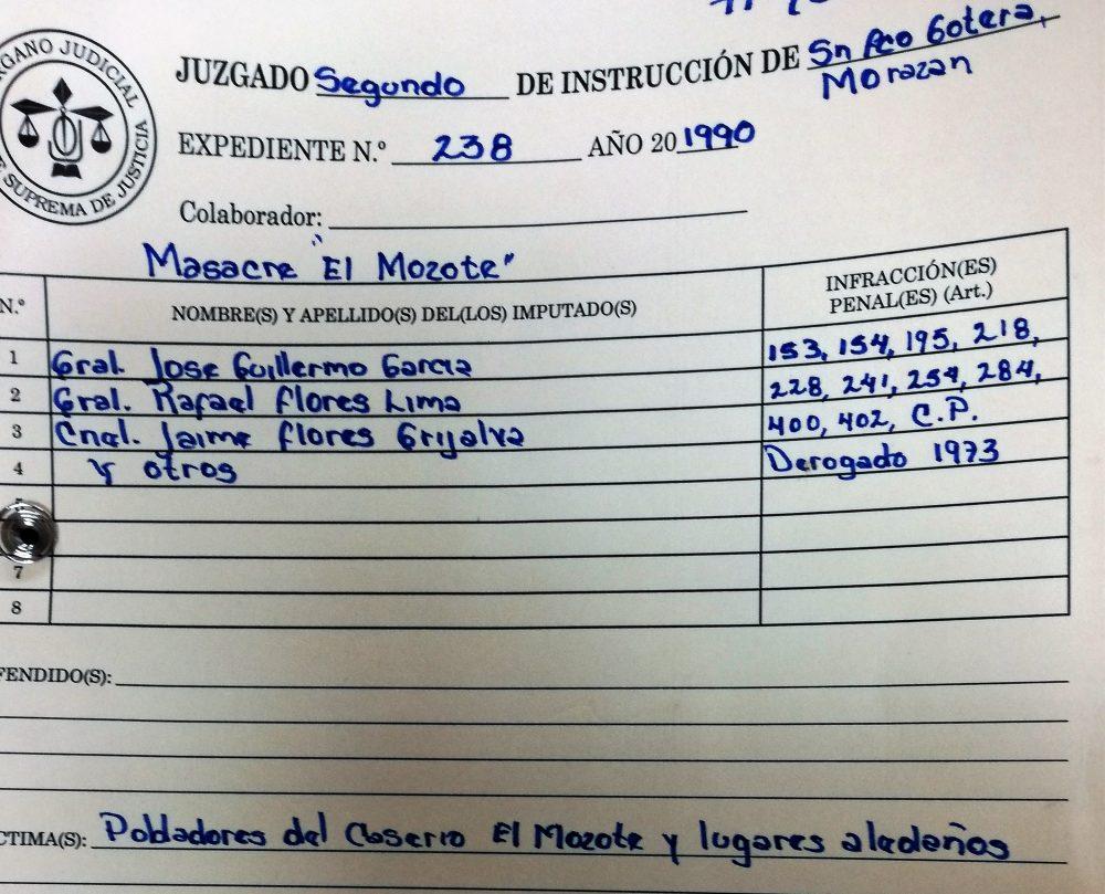Estos son los militares acusados por la masacre de El Mozote