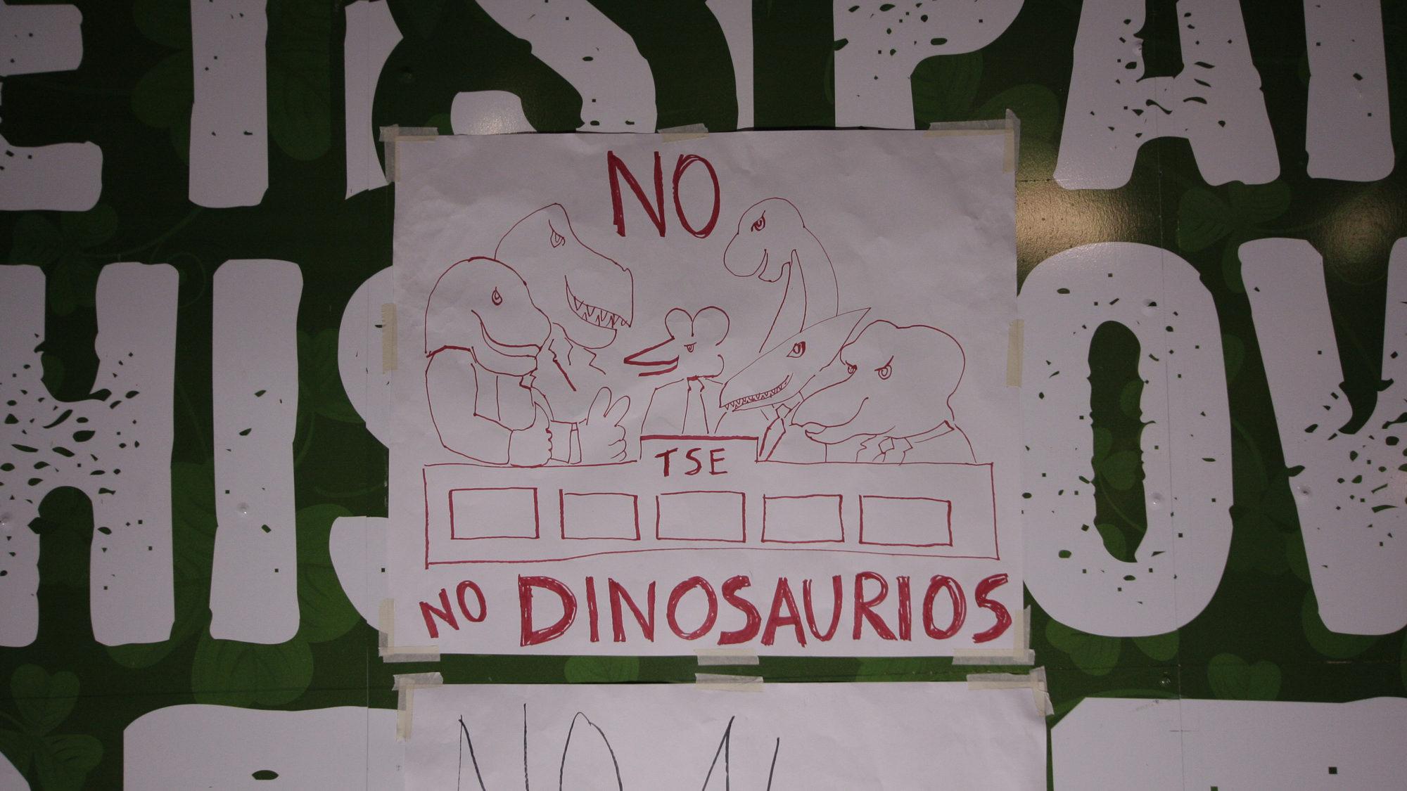 «Queremos demostrar que ya no queremos dinopolíticos»