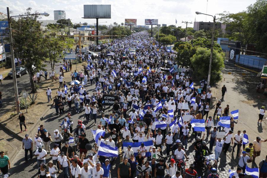 Las marchas que desafían a Daniel Ortega