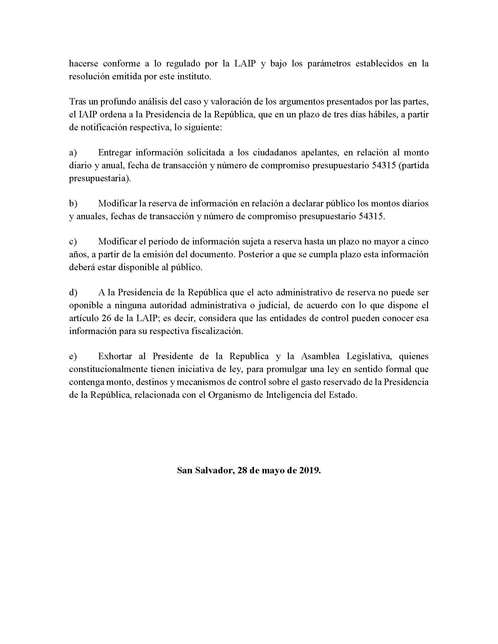 Comunicado resolución IAIP-OIE 2