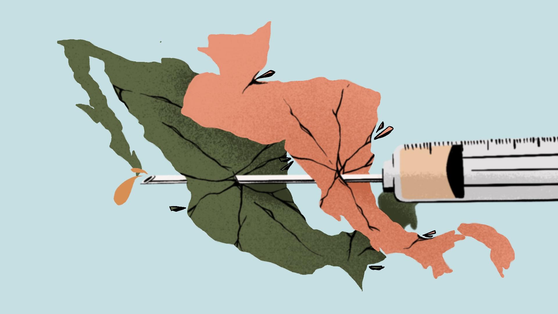 Las vacunas llegan tarde y mal a Centroamérica y sur de México